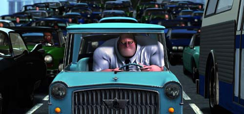 Mr Incredible stuck in traffic